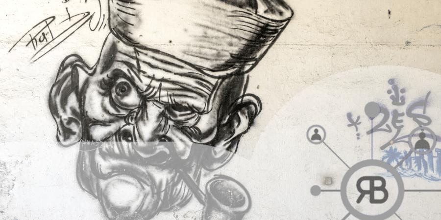 Popeye au mur pas content avec logo Richard Bulan