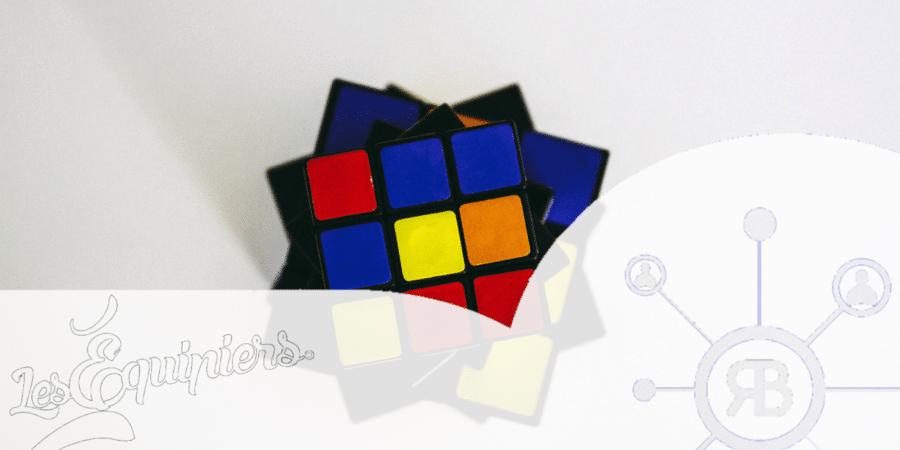 Rubix-cube logo Les Equipiers et Richard Bulan